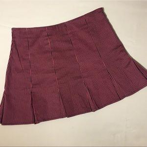 Betsey Johnson Pleated Mini Skirt